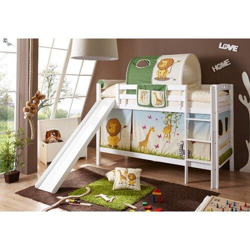 Etagenbett Eileen mit Rutsche| 90 x 200 cm Roomie Kidz Farbe: Weiß | Kinderzimmer > Kinderbetten > Etagenbetten | Roomie Kidz