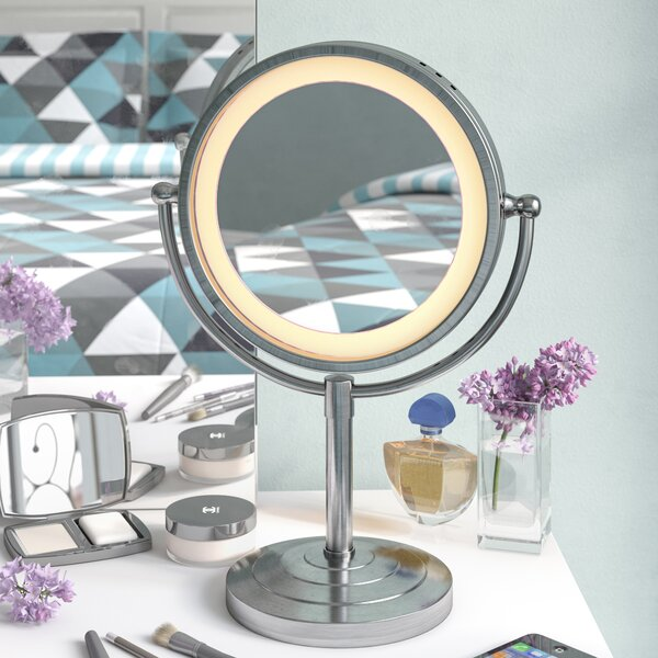 Lighted Tabletop Vanity Mirror | Wayfair