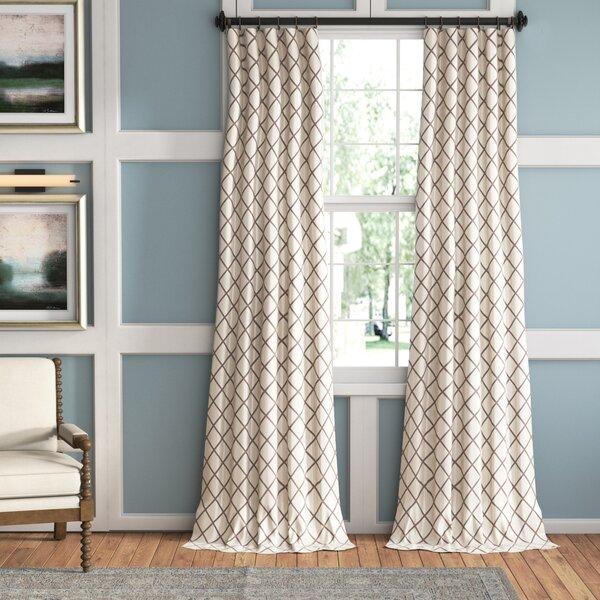 Leonidas Geometric Room Darkening Rod Pocket Single Curtain Panel by Zipcode Design