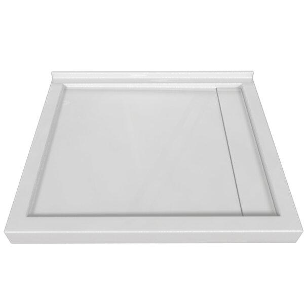 Signature Acrylic 48 W x 42 D Triple Threshold Shower Base