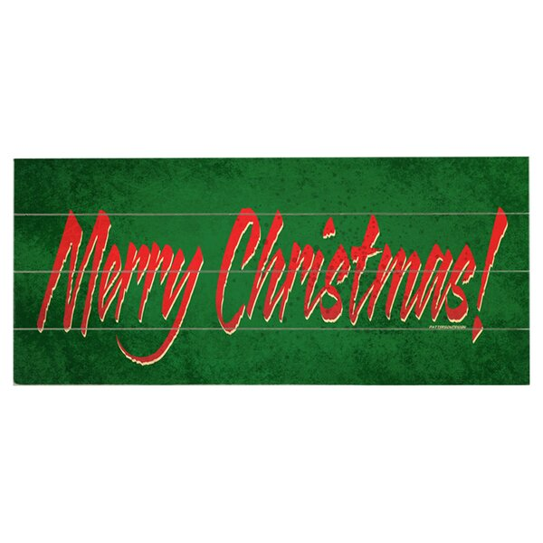 Merry Christmas! Graphic Art Print Multi-Piece Image on Wood by Artehouse LLC