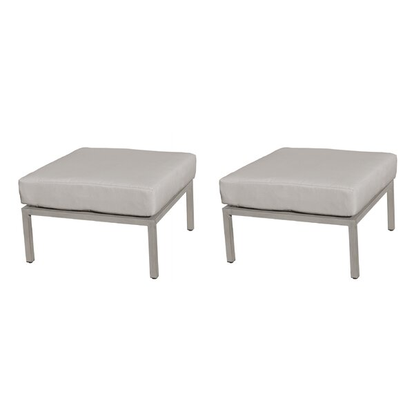 Wrenshall Outdoor Ottoman with Cushion (Set of 2) by Red Barrel Studio