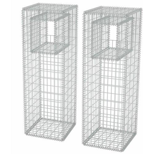 Mahaffie Metal Planter Box with Trellis Freeport Park Size:
