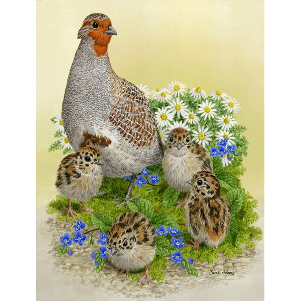 Partridge and Chicks Vertical Flag by Caroline's Treasures