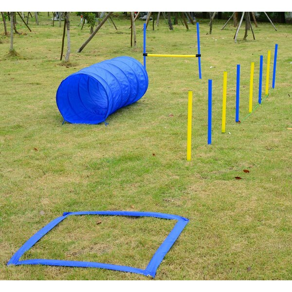 4 Piece Obstacle Dog Agility Training Course Kit by Pawhut