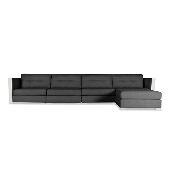 Steffi Buttoned Chaise Modular Sectional by Orren Ellis