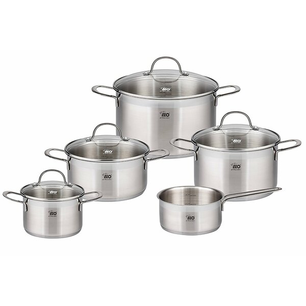 9 Piece 18/10 Stainless Steel Induction Cookware Set by Westmark