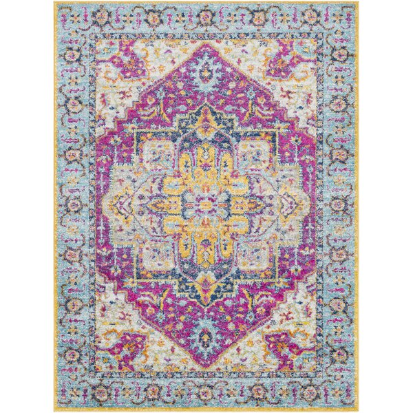 Almonte Pink/Light Blue Area Rug by Bungalow Rose