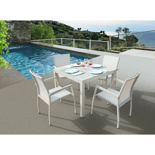 Daucourt 5 Piece Dining Set by Brayden Studio