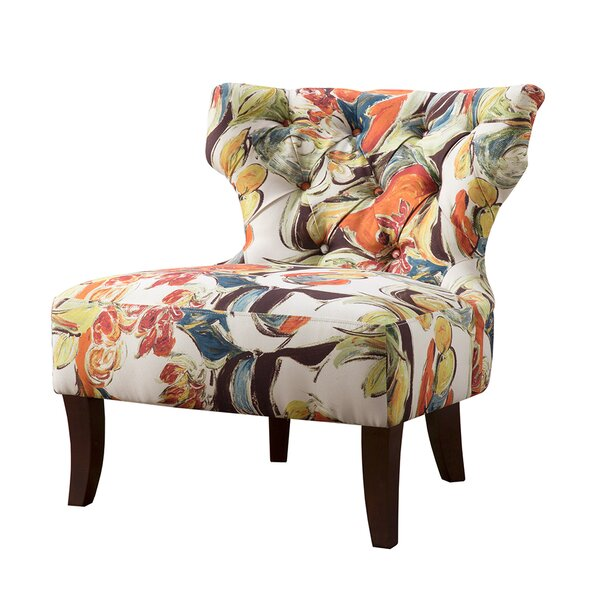 Glen Hourglass Tufted Wing back Chair by Latitude