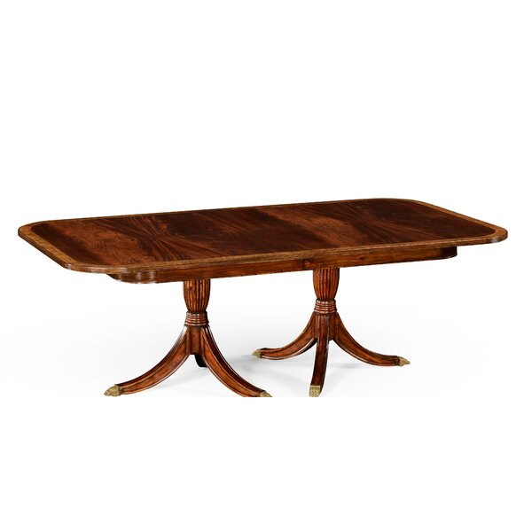 Buckingham Regency Extendable Solid Wood Dining Table by Jonathan Charles Fine Furniture