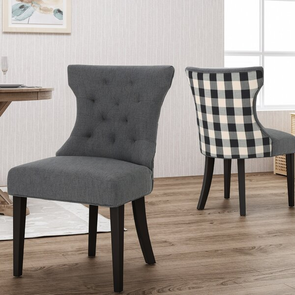 Orourke Two Toned Upholstered Dining Chair (Set of 2) by Alcott Hill