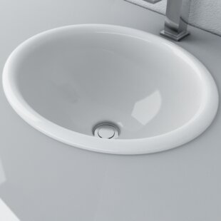 Affordable Vitreous China Oval Drop-In Bathroom Sink By Cantrio Koncepts