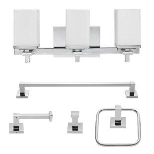 Finn 5 Piece Bathroom Hardware Set ByGlobe Electric Company