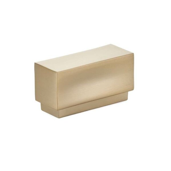 Urban Modern Cinder Cabinet Rectangle Knob by Emtek