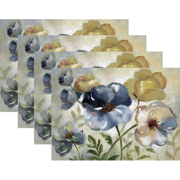 Padstow Floral 18 Placemat (Set of 4) by Charlton Home