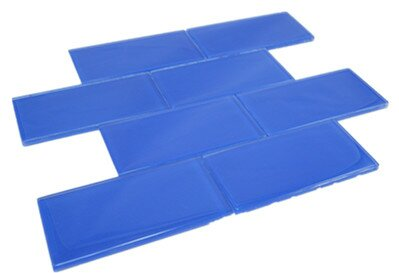 3 x 6 Glass Tile in Blue by Multile