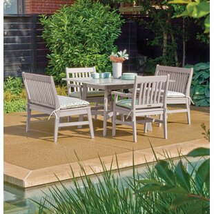 Laney 5 Piece Outdoor Dining Set By Breakwater Bay