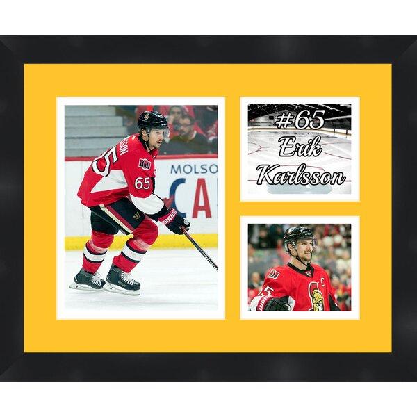 Ottawa Senators Erik Karlsson 65 Photo Collage Framed Photographic Print by Frames By Mail