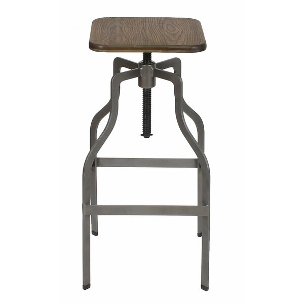 Urgeon Adjustable Height Swivel Bar Stool by Williston Forge