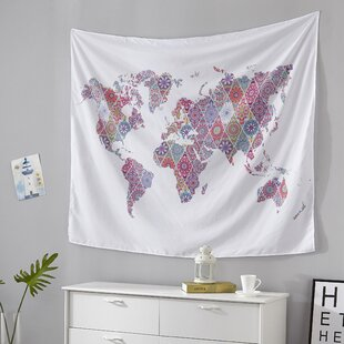Old World Map Tapestry Wayfair