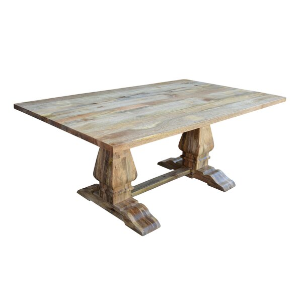 Harley Solid Wood Dining Table by Millwood Pines