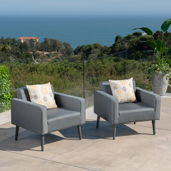 Woodbury Patio Chair with Cushion (Set of 2) by Langley Street