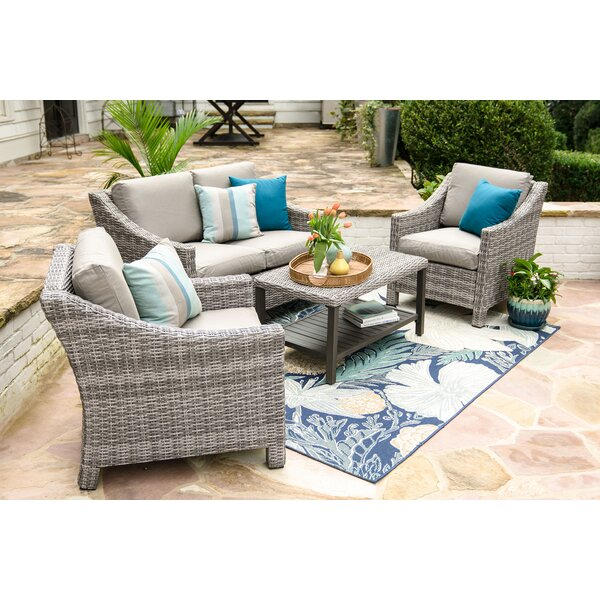 Kevin 4 Piece Sofa Set with Cushions by Darby Home Co