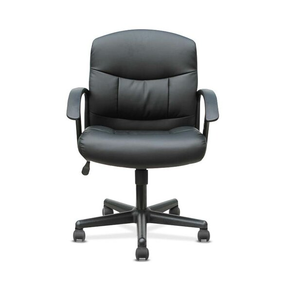 Mark Genuine Leather Executive Chair by Symple Stuff
