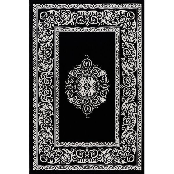 Ramos Beautiful Black Indoor/Outdoor Area Rug by Charlton Home