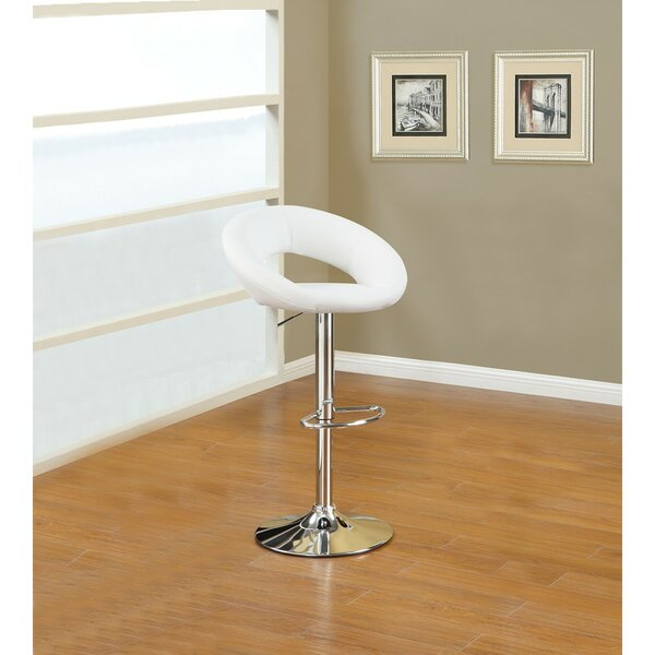 Shore Front Metal Base Adjustable Height Bar Stool by Orren Ellis