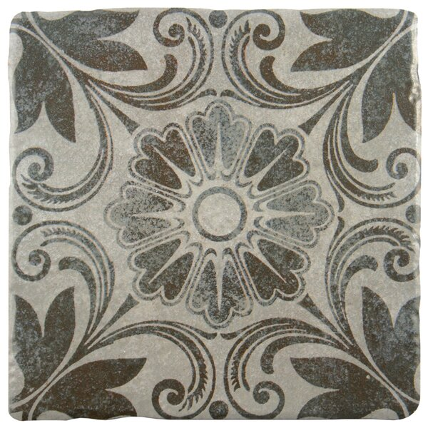 Diego 7.75 x 7.75 Ceramic Field Tile in Matte Gray/Brown by EliteTile