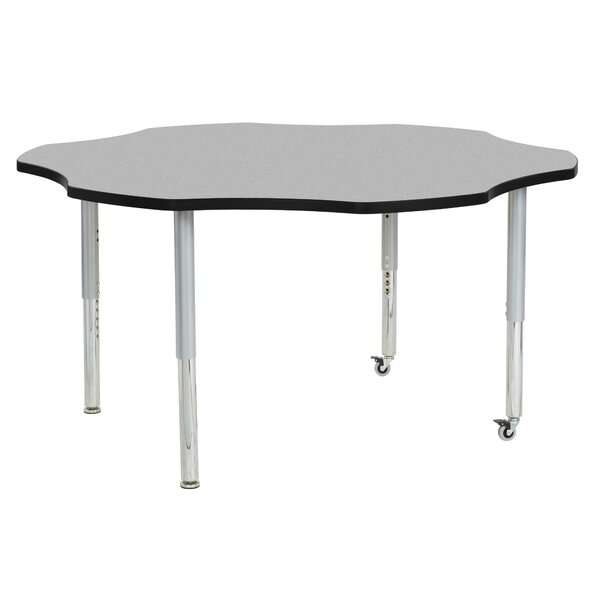 Flower Contour Adjustable Thermo-Fused 60 x 60 Novelty Activity Table by ECR4kids