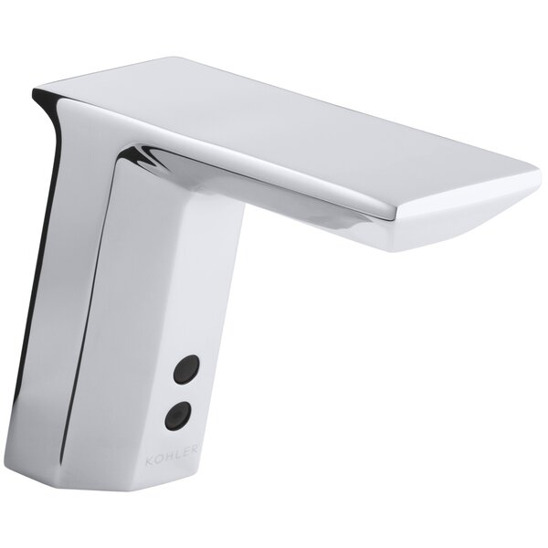 Geometric Single-Hole Touchless Dc-Powered Commercial Bathroom Sink Faucet with Insight Technology and 6-3/4 Spout by Kohler