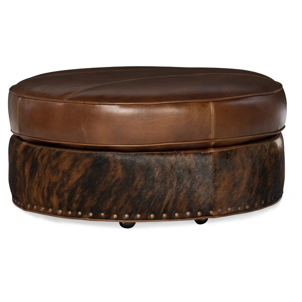 Round Em Up Leather Cocktail Ottoman By Bradington-Young