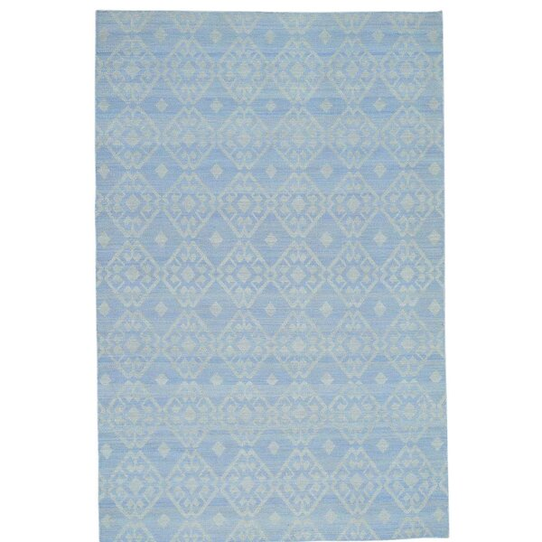 Flat Weave Reversible Durie Kilim Oriental Hand-Knotted Ivory Area Rug by Bloomsbury Market