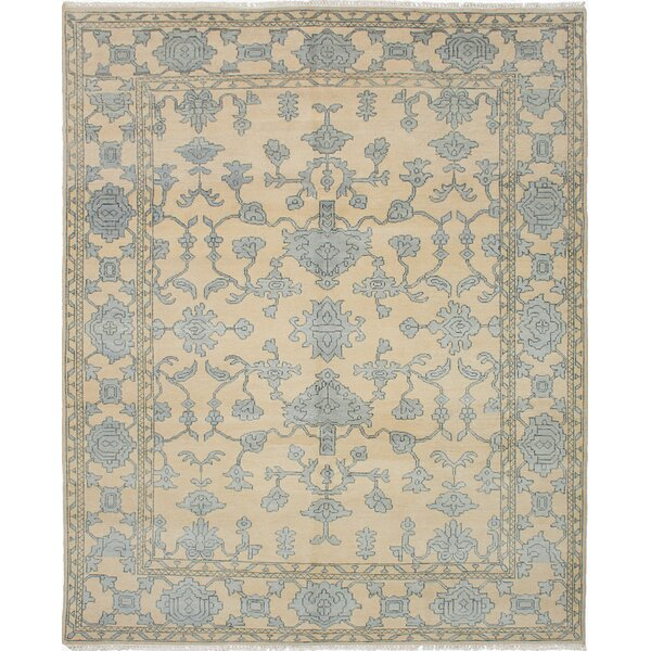 One-of-a-Kind Doggett Hand-Knotted Ivory Area Rug by Isabelline