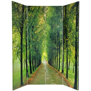 Inexpensive Joesph Path of Life 4 Panel Room Divider By Red Barrel Studio