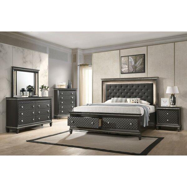DeDee Queen Platform 2 Piece Bedroom Set by Ebern Designs