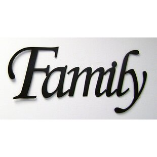 Family Word Sign Wall Decor