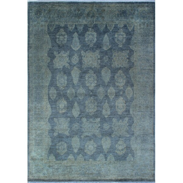 One-of-a-Kind Collette Hand-Knotted Wool Grey Area Rug by Isabelline