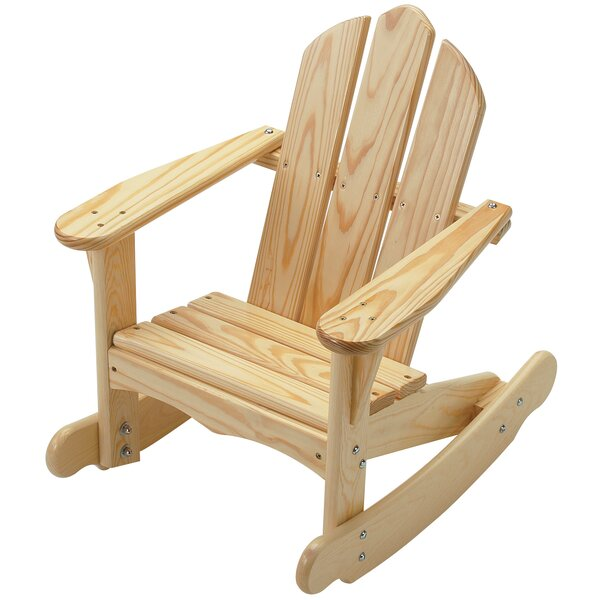 Brumfield Child's Solid Wood Adirondack Rocker by Loon Peak Loon Peak