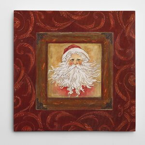 'Father Christmas' Painting Print on Wrapped Canvas by The Holiday Aisle