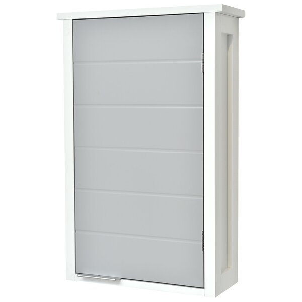Bathroom 1 Door 14.9 W x 24.9 H Wall Mounted Cabinet by Evideco