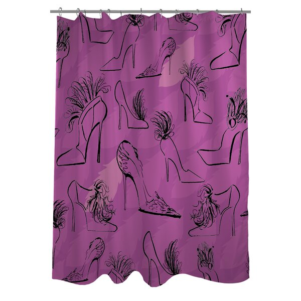 Stilettos Feathers 6 Shower Curtain by One Bella Casa