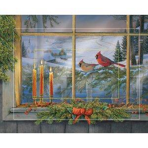 Holiday Friends - Cardinals by Sam Timm Painting Print on Wrapped Canvas by Wild Wings