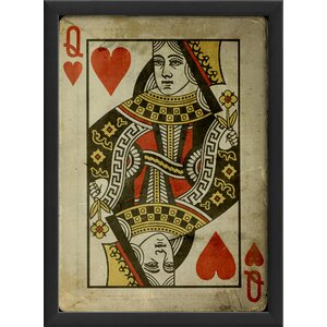 Queen of Hearts Framed Graphic Art by The Artwork Factory