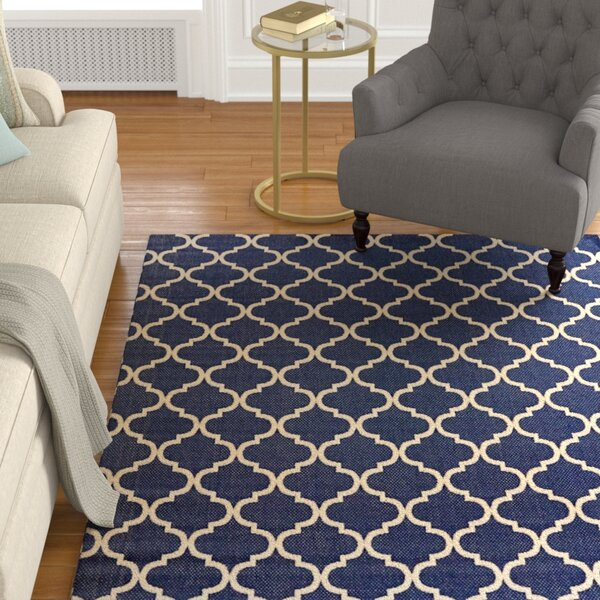 Attles Blue Indoor/Outdoor Area Rug by Alcott Hill