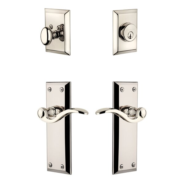 Fifth Avenue Single Cylinder Handleset with Bellagio Lever by Grandeur