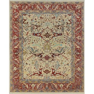 One-of-a-Kind Woodmoor Chobi Hand Knotted Wool Ivory Area Rug by Loon Peak